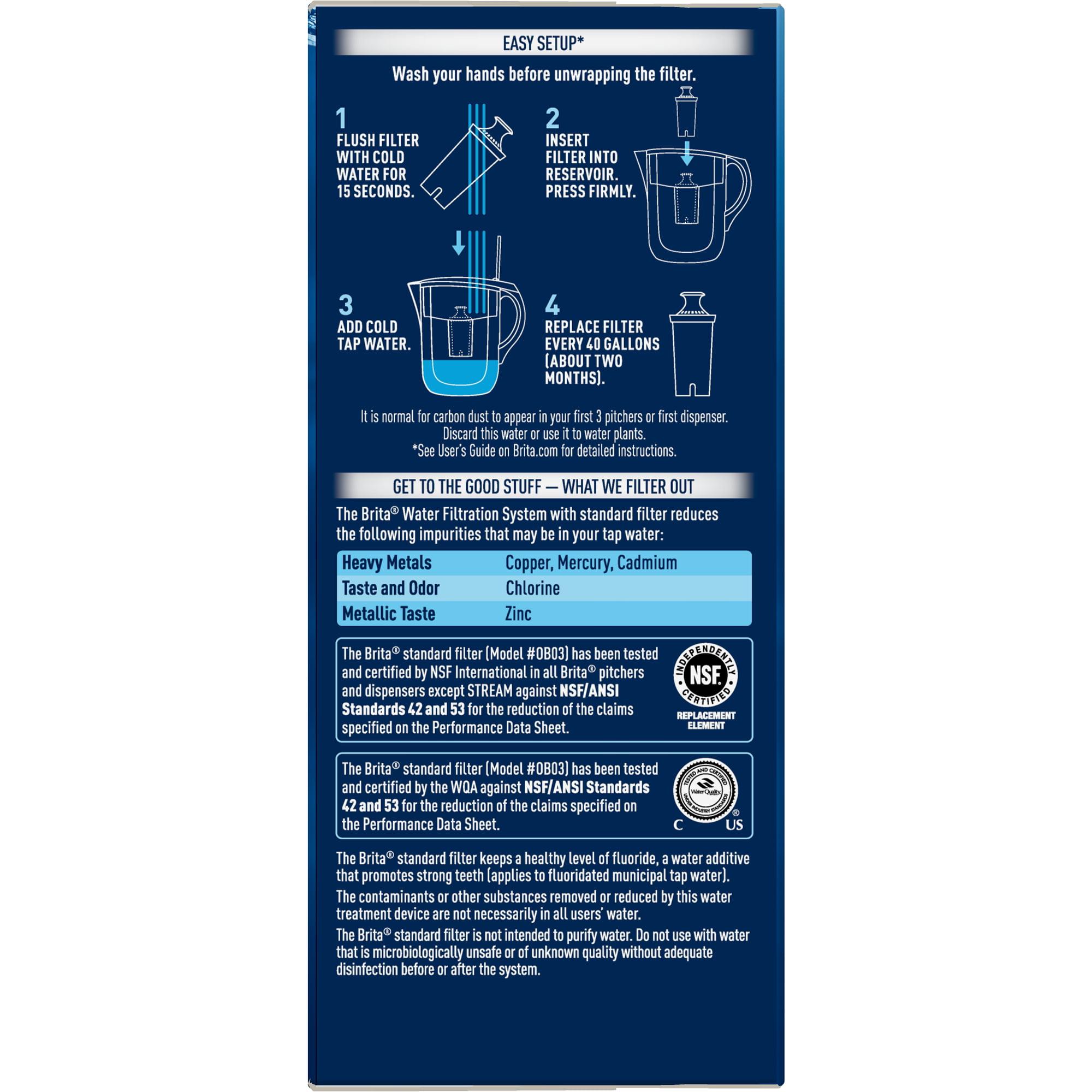 Brita Standard Water Filter, Standard Replacement Filters for