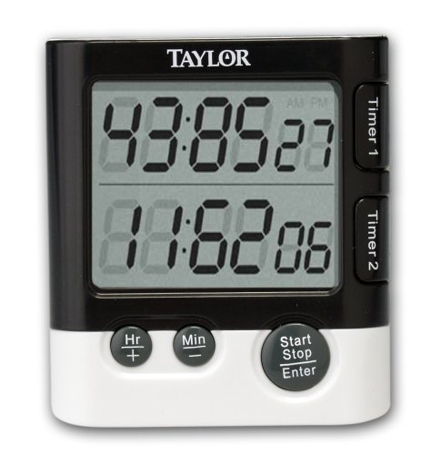 Taylor Dual Event Timer Table Clock - Digital - Quartz (5828_7)