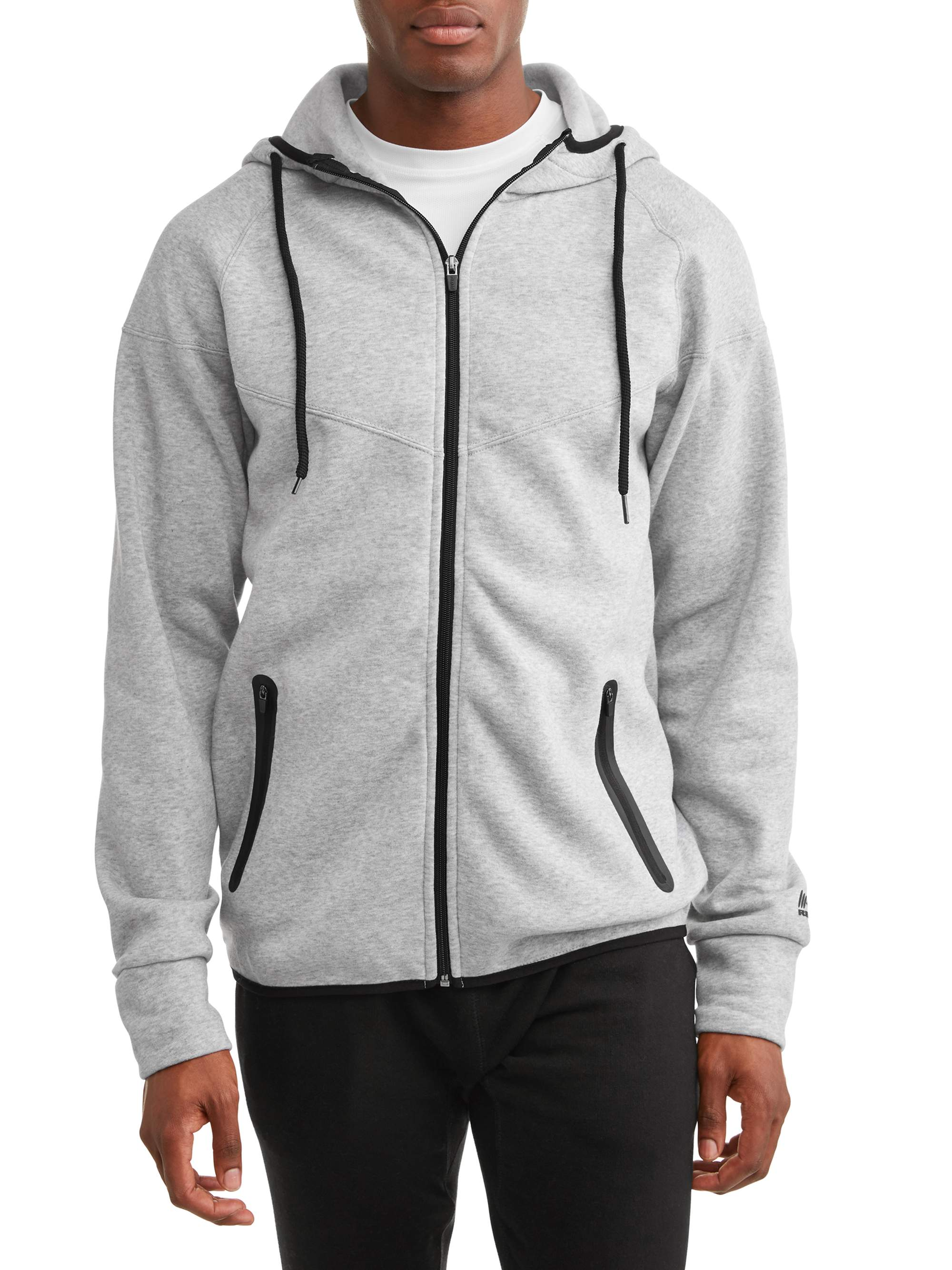RBX Men's Fleece Hooded Full Zip Jacket