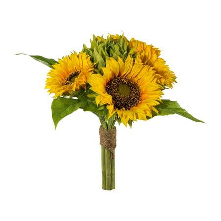 Artificial Fall Sunflower Bouquet, 6 large Flowers in 1 - Fall Sunflower Bouquet
