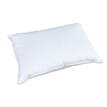 Creative Living Solutions White Goose Feather and Down 100% Cotton Case All Season Bed Pillow Twin Size