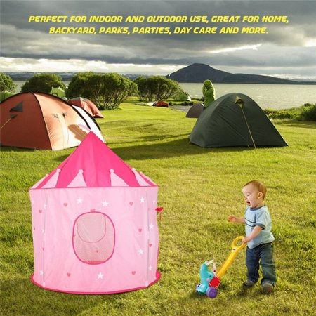 Kid Children Tent Playhouse Portable Foldable Toddler Kids Stars
