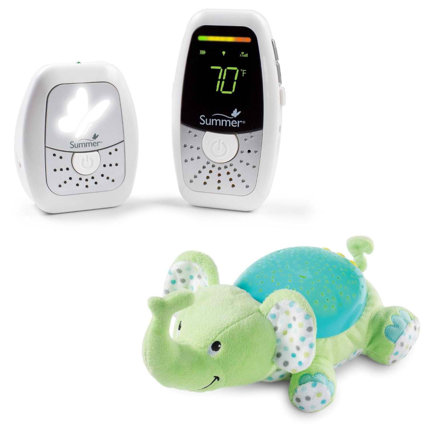 Summer Infant Baby Wave Deluxe Digital Audio Monitor with Slumber Buddy Nightlight, Elephant
