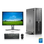 "HP DC Desktop Computer 2.8 GHz Pentium G Tower PC, 4GB, 250GB HDD, Windows 10 Home x64, 17"" Monitor , USB Mouse & Keyboard - Refurbished"