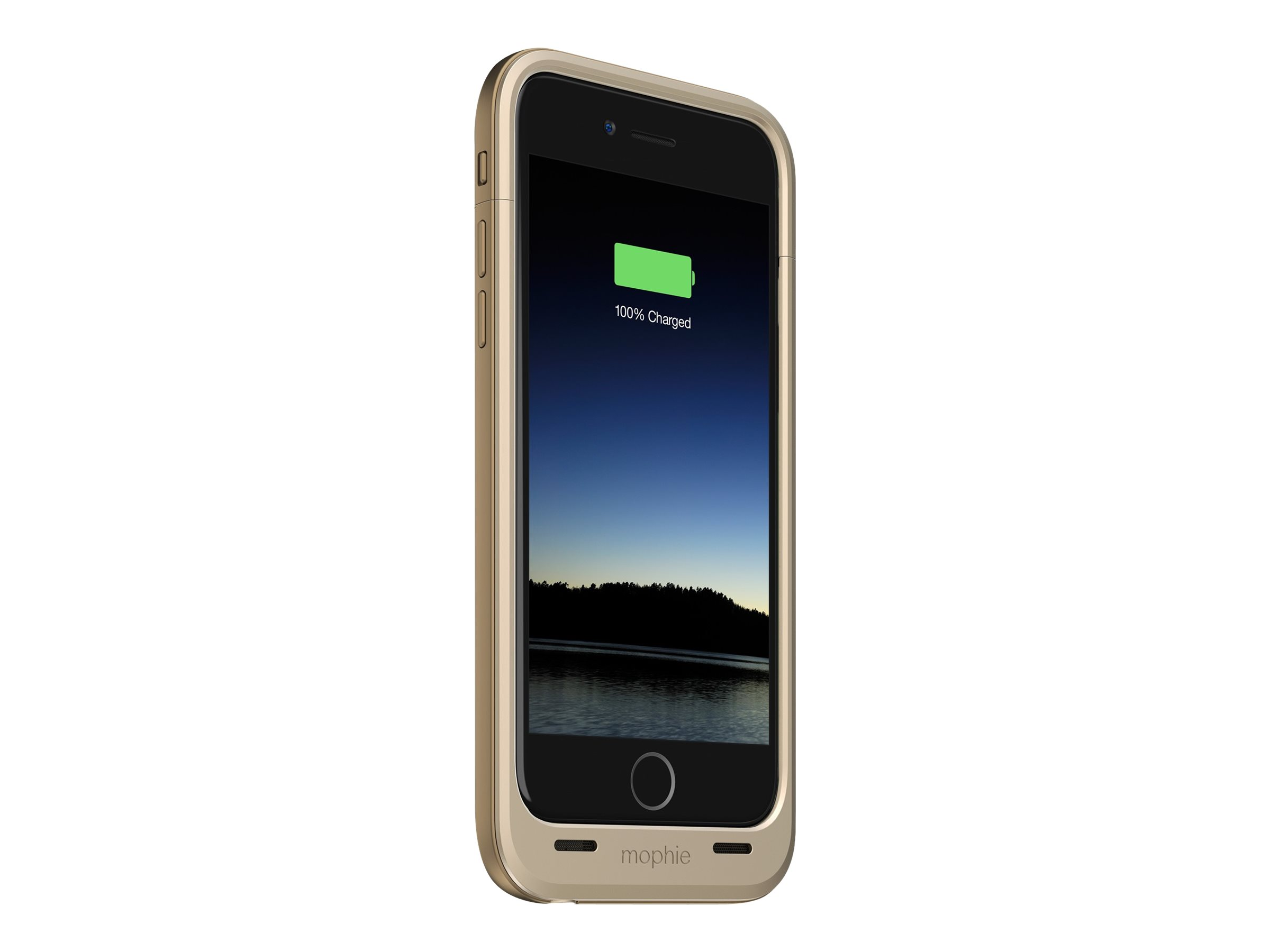lowest price 864a2 1fcfa Mophie Juice Pack Plus - External battery pack Li-pol 3300 mAh (Lightning)  - on cable: Micro-USB - gold - for Apple iPhone 6