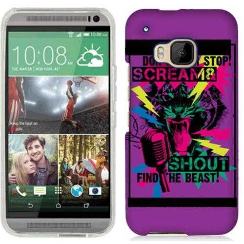 Mundaze Tiger Scream Phone Case Cover for HTC One M9 M9TGERSCRM