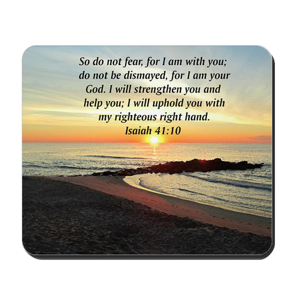CafePress - ISAIAH 41:10 - Non-slip Rubber Mousepad, Gaming Mouse Pad