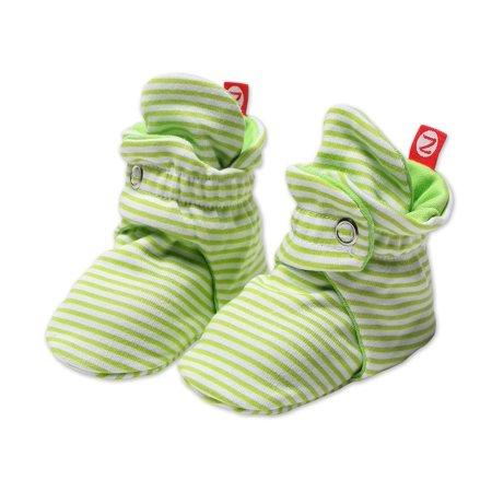 Zutano Baby Booties Candy Stripe Lime (Zutano Bold Stripe)