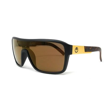 DRAGON Sunglasses REMIX 1 851 Polished Walnut Shield (Cheap Sunglasses Remix)