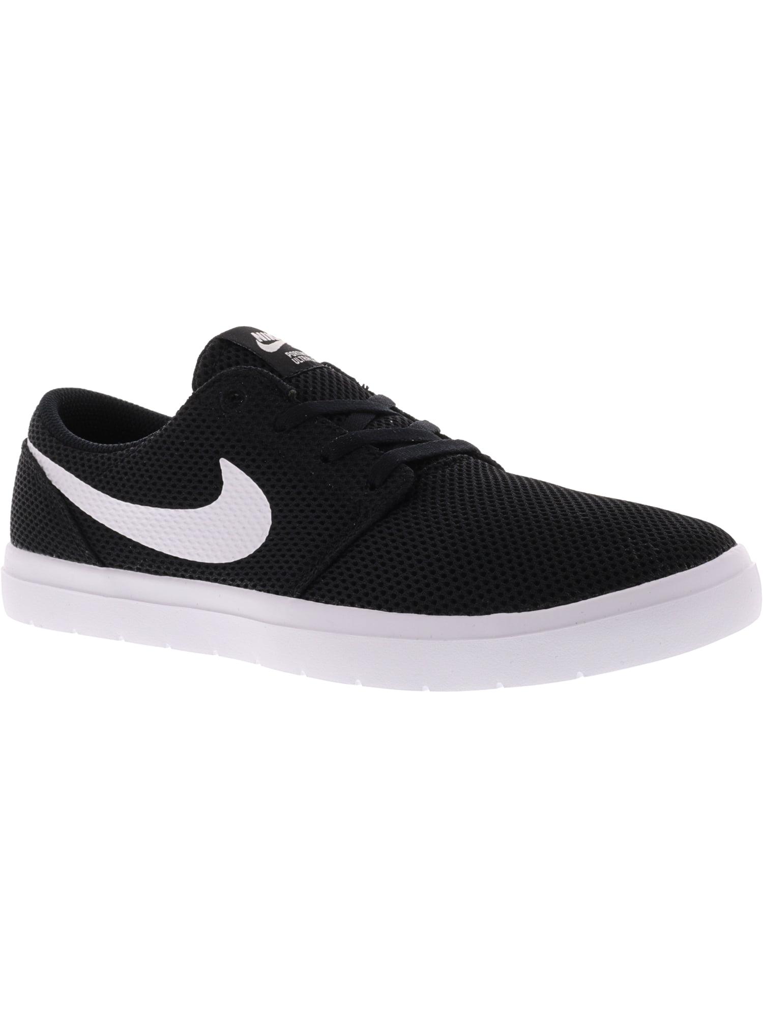 Nike Men's Sb Portmore Ii Ultralight Black / White Ankle-High Skateboarding Shoe - 10M