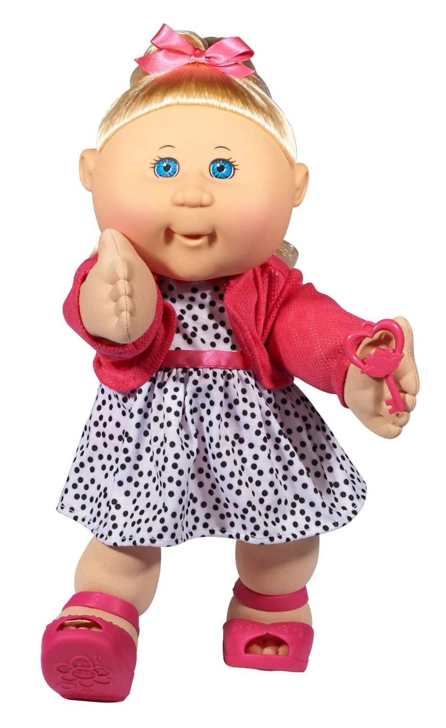 cabbage patch kids trendy doll blonde hair blue eye