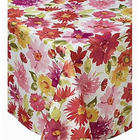 living quarters watercolor floral microfiber tablecloth table cloth