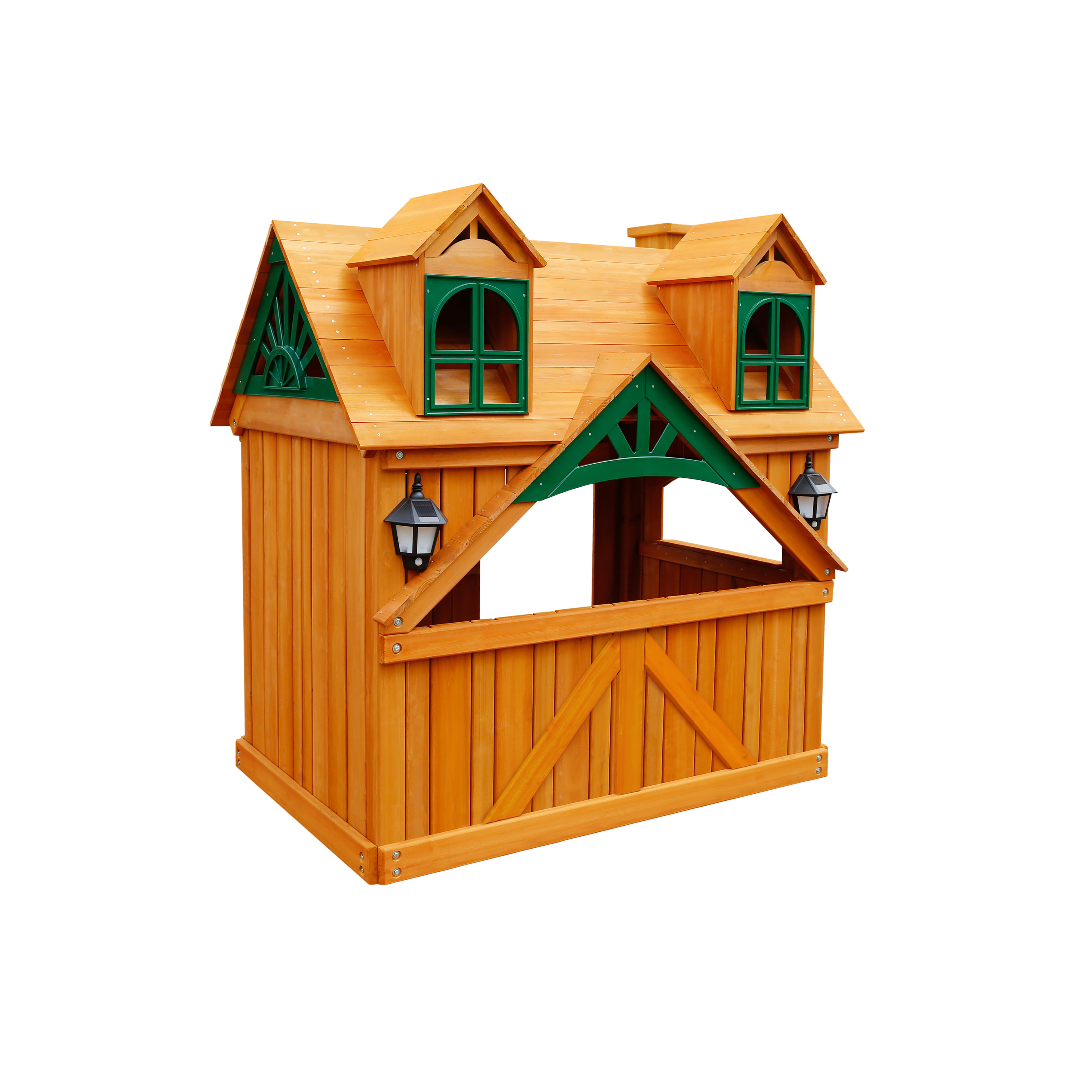Gorilla Playsets Malibu Wooden Playhouse by Gorilla Playsets