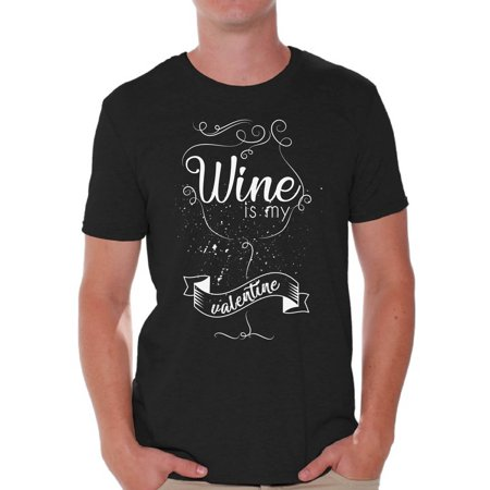Awkward Styles Wine Is My Valentine Shirt Valentine Tshirt For Men