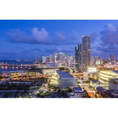 Elevated View over Biscayne Boulevard and the Skyline of Miami, Florida, USA Print Wall Art By Gavin Hellier](Biscayne Boulevard)