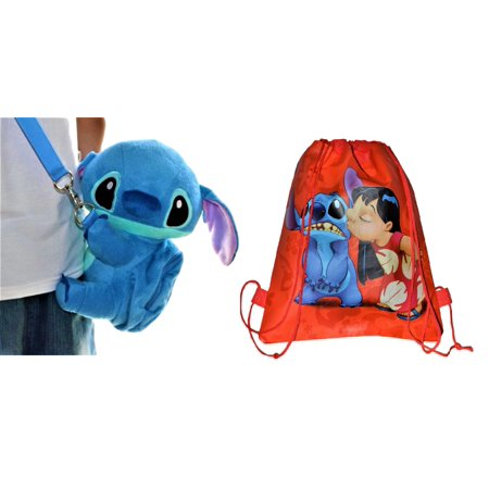 Soft Plush Body - Disney Stitch Soft Plush Crossbody Mini Bag With Small Pocket .  9