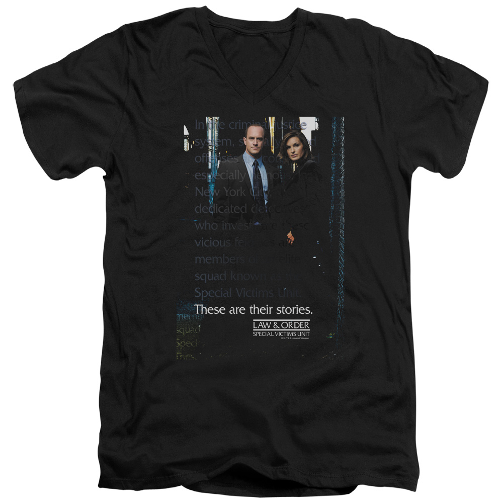 Law & Order SVU SVU Mens V-Neck Shirt