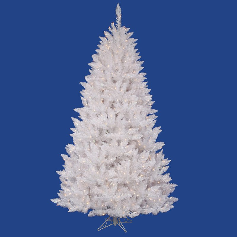 Vickerman 8.5 ft. Sparkle White Spruce Pre-lit Christmas Tree