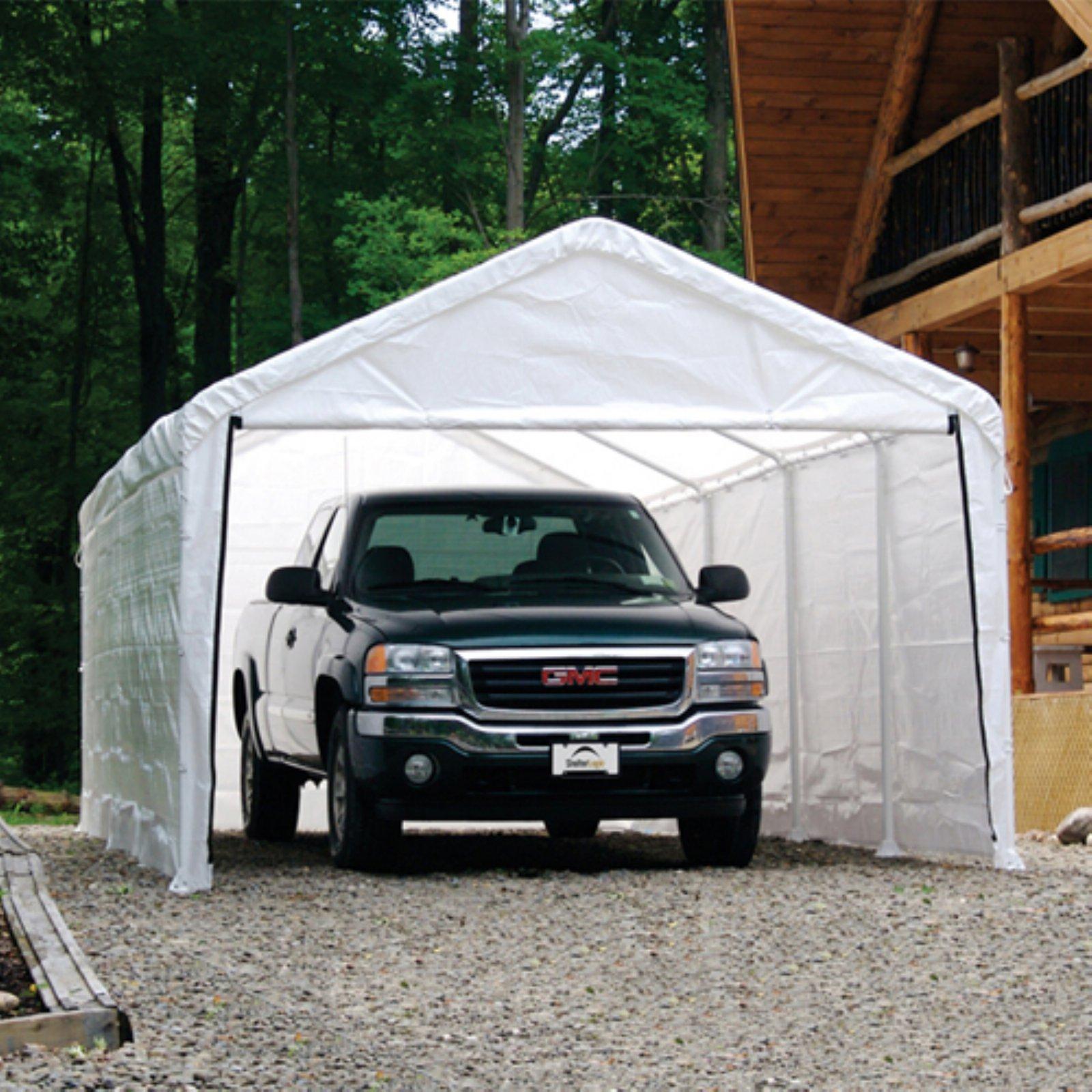 ShelterLogic 1840 White Canopy Enclosure Kit, FR Rated