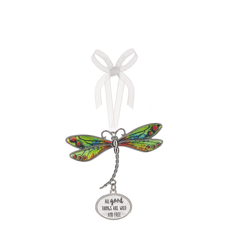 Dragonfly Ornaments (All Good Things are Wild and Free Dragonfly Ornament - By)