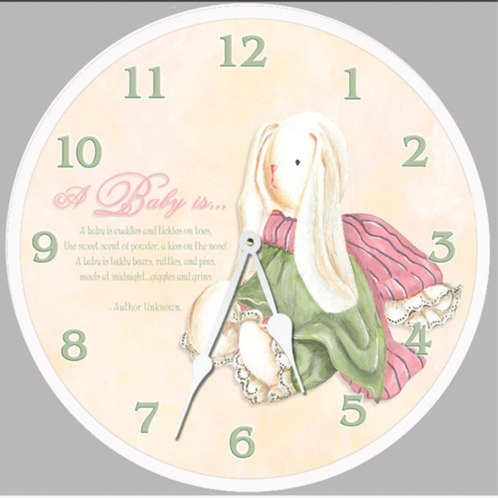 Lexington Studios Baby Bunny Wall Clock