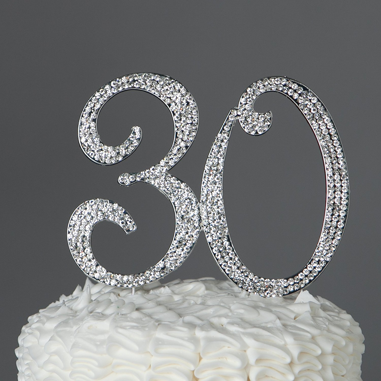 30 Cake Topper For 30th Birthday Or Anniversary Gold Party Supplies
