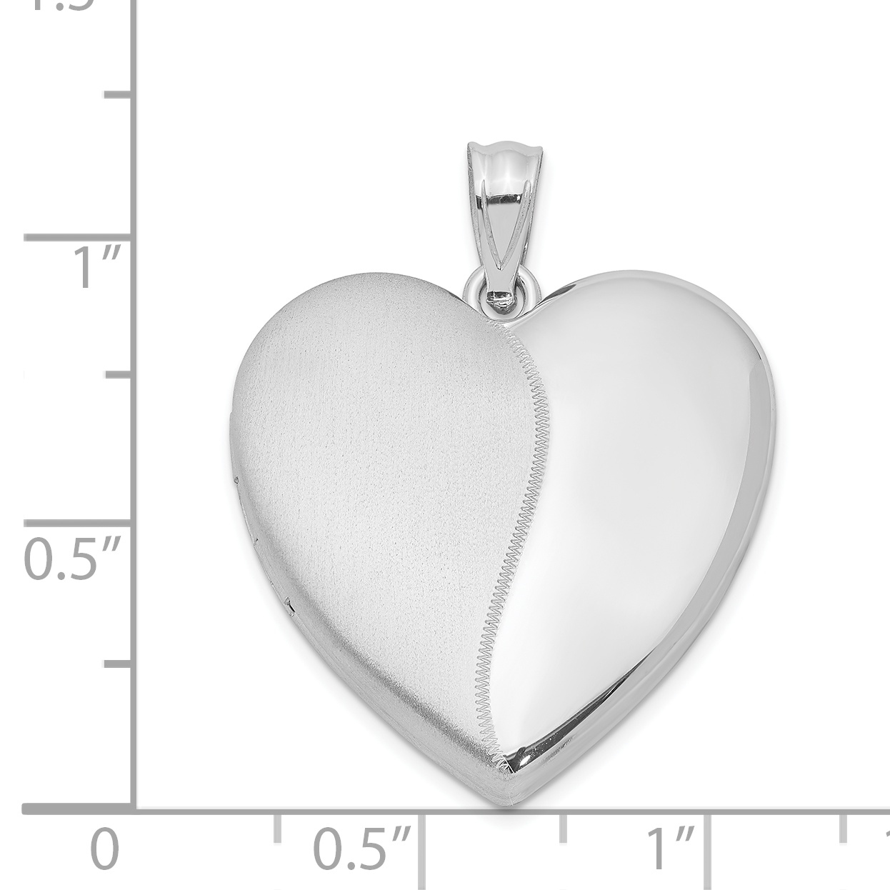 925 Sterling Silver 24mm Heart Photo Pendant Charm Locket Chain Necklace That Holds Pictures Fine Jewelry Gifts For Women For Her - image 1 of 3