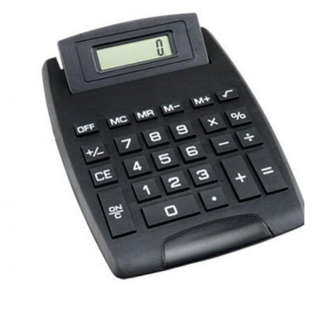 - Large Display Desktop Calculator 8 Digit Electronic Standard Function Battery Operated Black