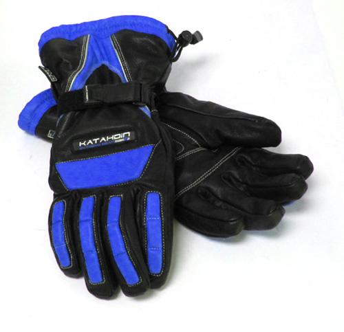 VERTEX LEATHER GLOVE - BLACK &BLUE 4X-LARGE