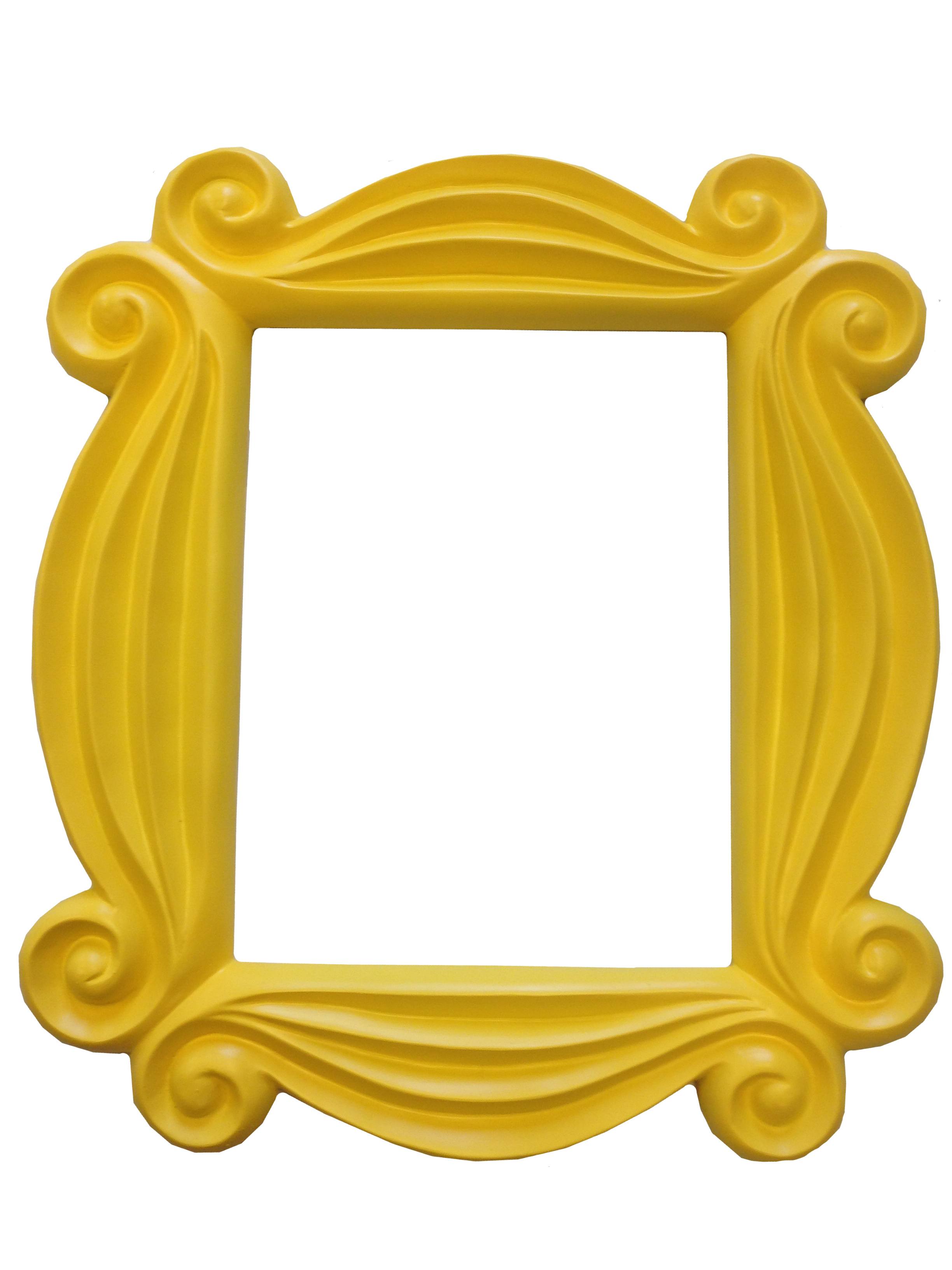 Lovely Friends Yellow Peephole Picture Frame Door TV Show Monica Hanging  F R I E N D S