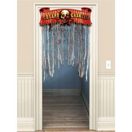 Creepy Carnival Doorway Curtain](Halloween Doorway)