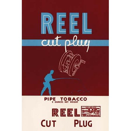 Reel Cut Plug Pipe Tobacco-Fine Art Canvas Print (20