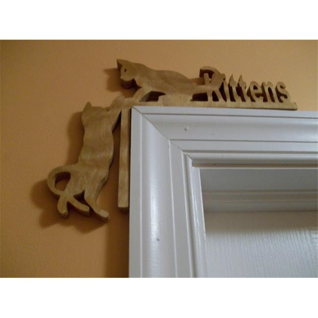 Fine Crafts 121ANI Corner Kittens Wooden Door Topper