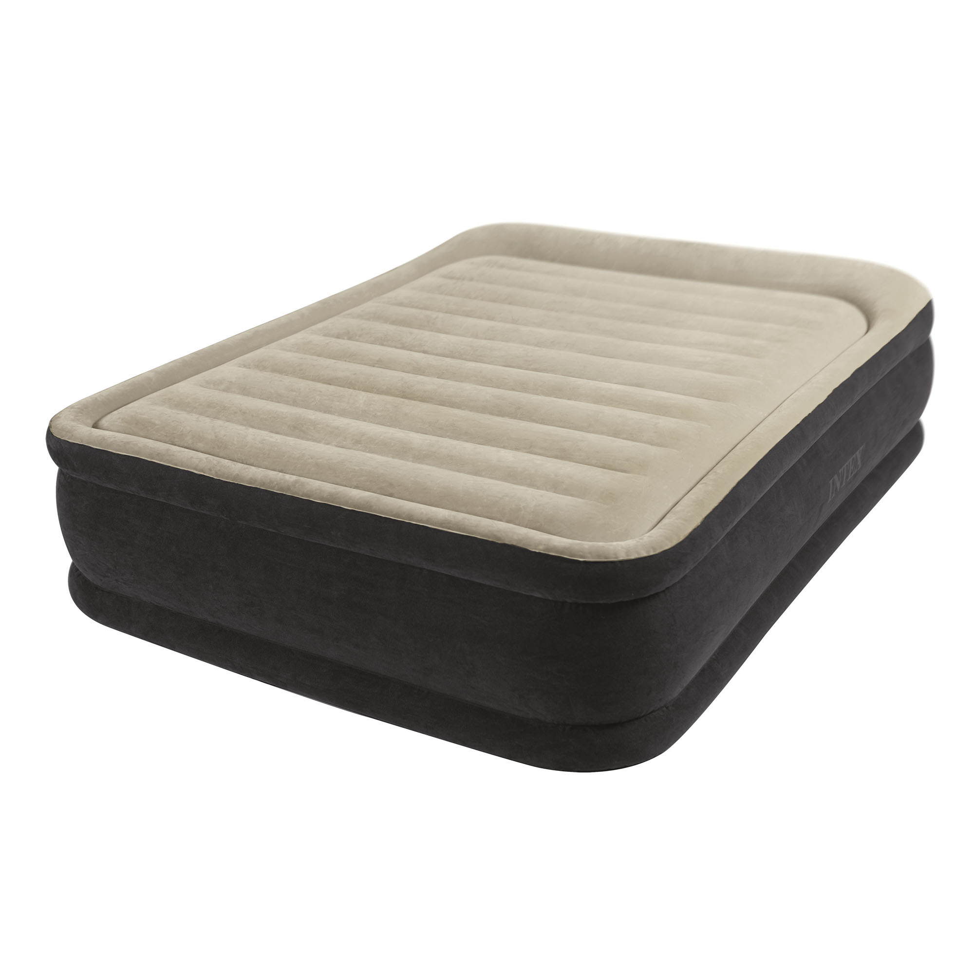 "Intex Premium Dura-Beam Comfort 13"" Airbed w  Built-In Air Pump, Queen 
