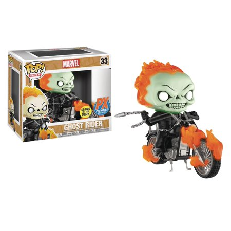 Pop Rides Marvel Classic Ghost Rider with Bike Glow in the Dark Vinyl Figure (Other) - Ghost Prop