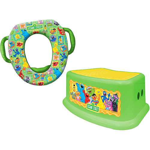 Sesame Street - Framed Friends Soft Potty Seat and Step Stool