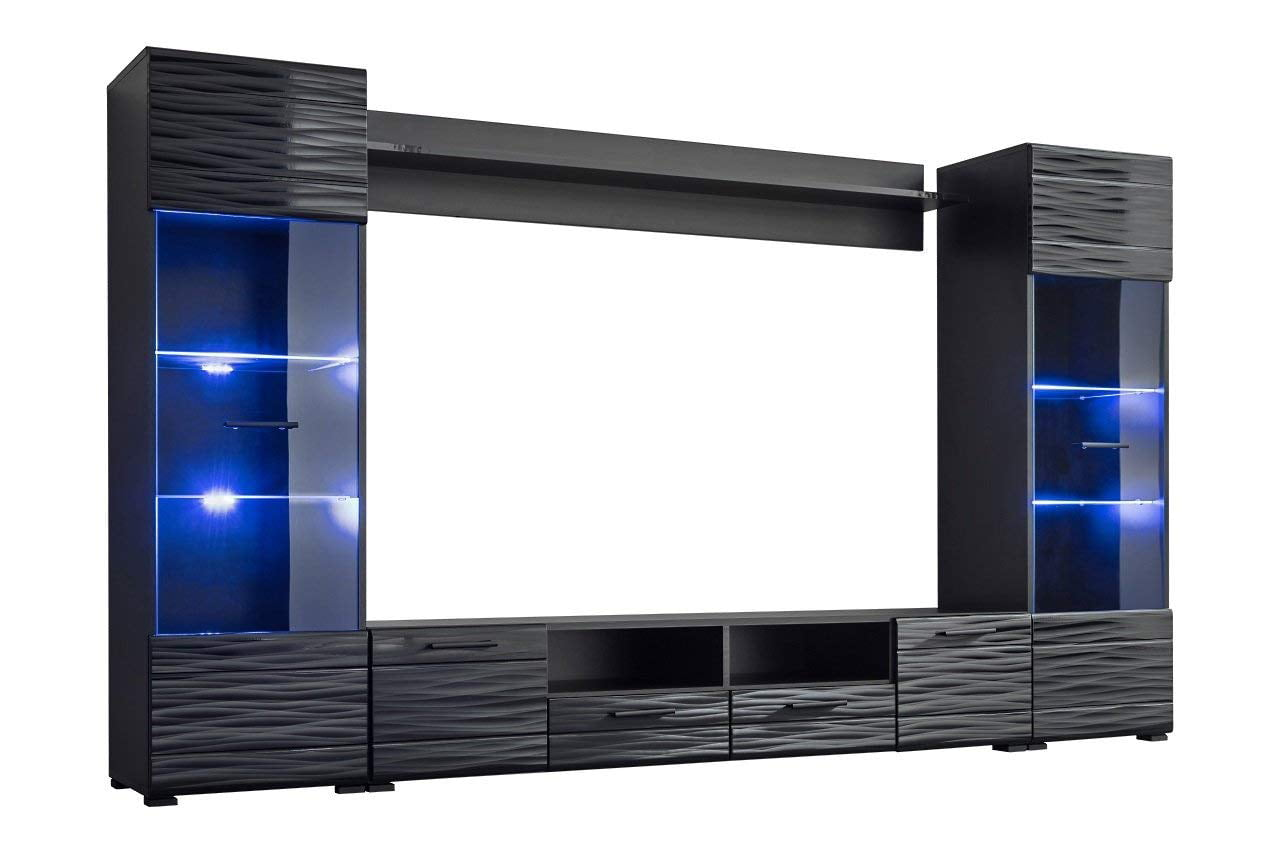 Modica Modern Entertainment Center 65 Tv Stand Wall Unit With Led
