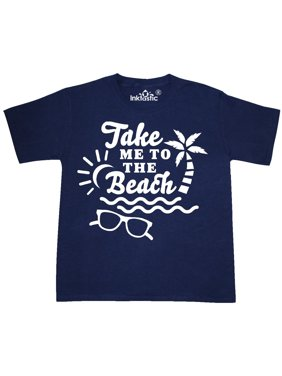 Take me To The Beach with Sunglasses and Palm Trees Youth T-Shirt