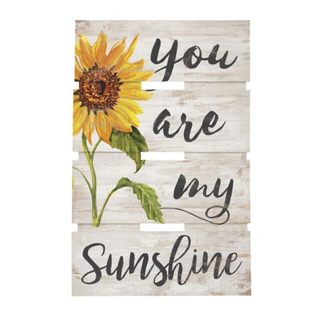 P. Graham Dunn You Are My Sunshine Pallet Art, 10 x 15.5 inches