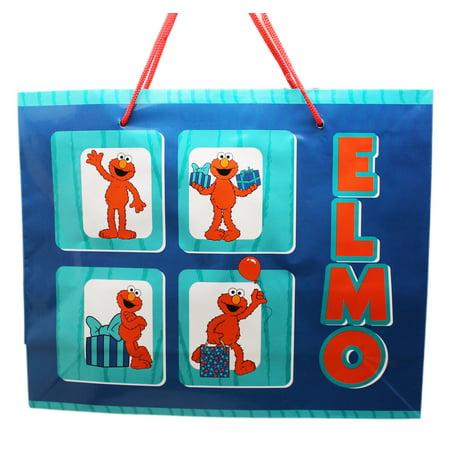 Elmo Bags (Sesame Street Four Block Elmo Blue Colored Reusable Gift)