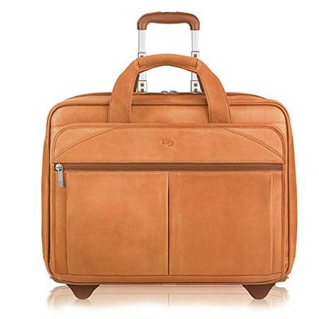 Solo Premium Leather 15.6  Laptop Rolling Case, Tan, D529