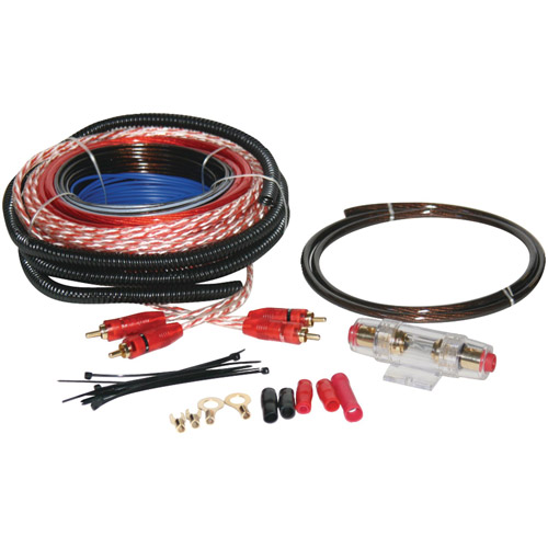 Soundquest SQK8 Copper-Clad Aluminum Amplifier Wiring Kit, 8-Gauge