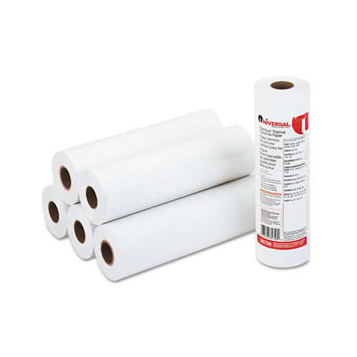 Universal Economical Ultra-Sensitive Thermal Fax Paper, 8-/2in x 164' Roll 6/ctn