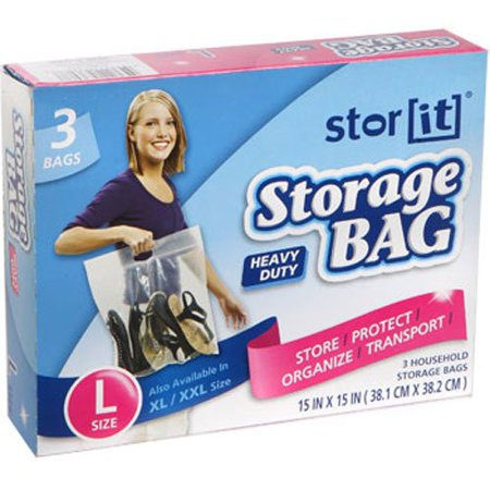 Stor It - Large Heavy Duty Plastic Storage Bags With Handles By (Heavy Duty Plastic Handle)