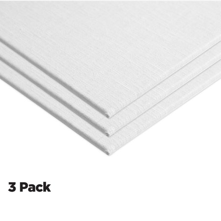 """Centurion Deluxe Oil Primed Linen Panel - Professinal Archival Oil Primed Linen Panels, Superb Performance & Color Retention Designed Specifically For Oil Painters - [3-Pack 