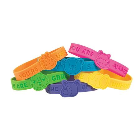 Fun Express - Animal Face Silicone Bracelet - Jewelry - Bracelets - Rubber Bracelets - 24