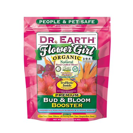 Dr. Earth Flower Girl Bud & Bloom Booster 4 lb, The only Non-GMO Project Verified fertilizer in the U.S.A. By Dr Earth