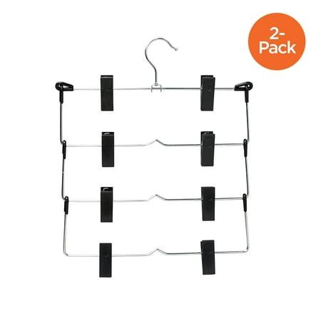 Honey Can Do 4-Tier Fold Up Skirt Hanger, 2-Pack