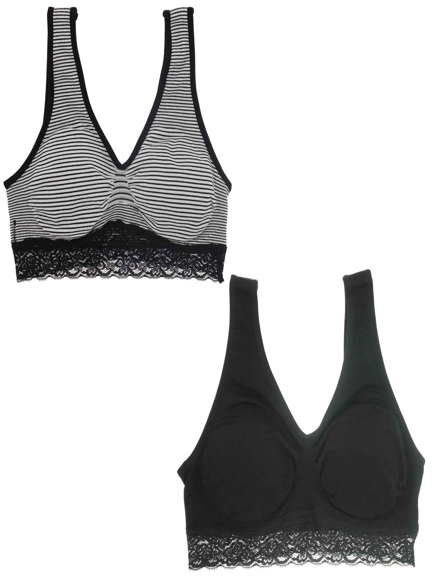 f05dc42d18 Marilyn Monroe Intimates - Marilyn Monroe Intimates Women s Seamless  Striped Comfort Bra (Small