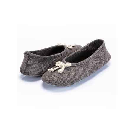 Women's Elegant Cashmere Knitted Memory Foam Indoor Ballerina House Slippers/Shoes